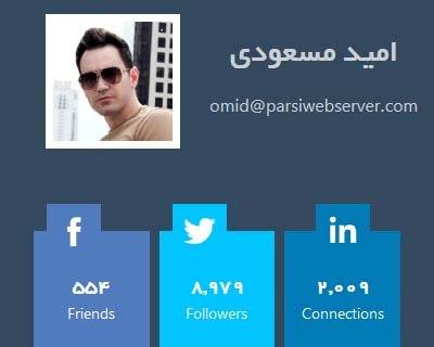 قالب user profile