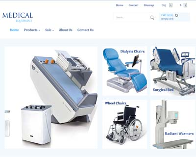 قالب medical equipment