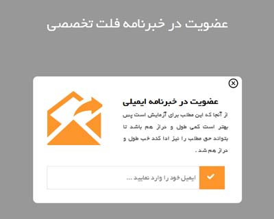 قالب newsletter signup form